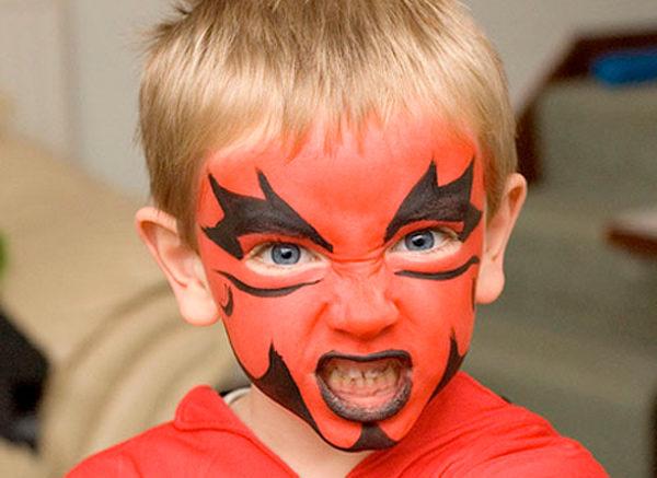 maquillaje diablo para niños