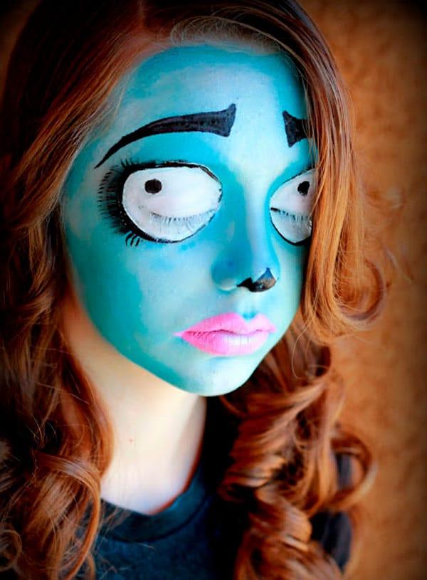 Maquillaje de Halloween de novia cadaver