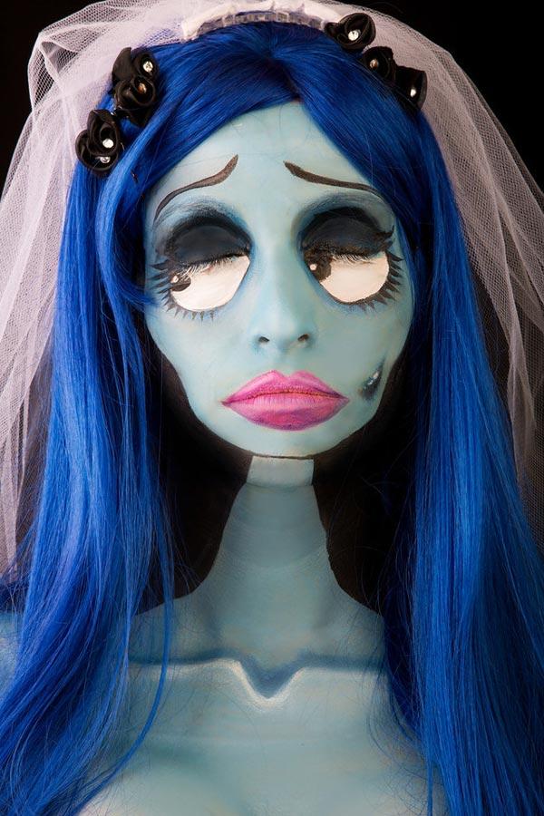 Maquillaje de novia cadaver para Halloween