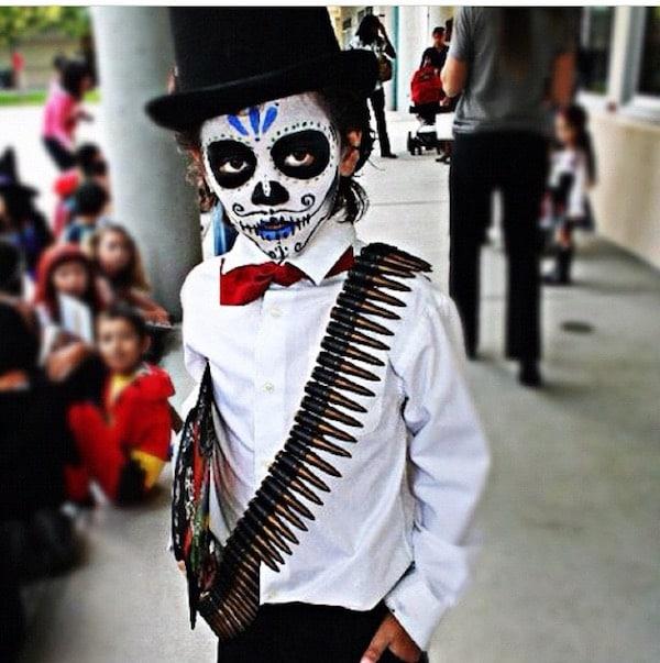 Disfraz de calavera mexicana