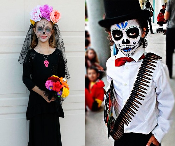 Disfraz De Calavera Mexicana Para El Dia De Muertos Pequeociocom - Como-hacer-un-disfraz-casero
