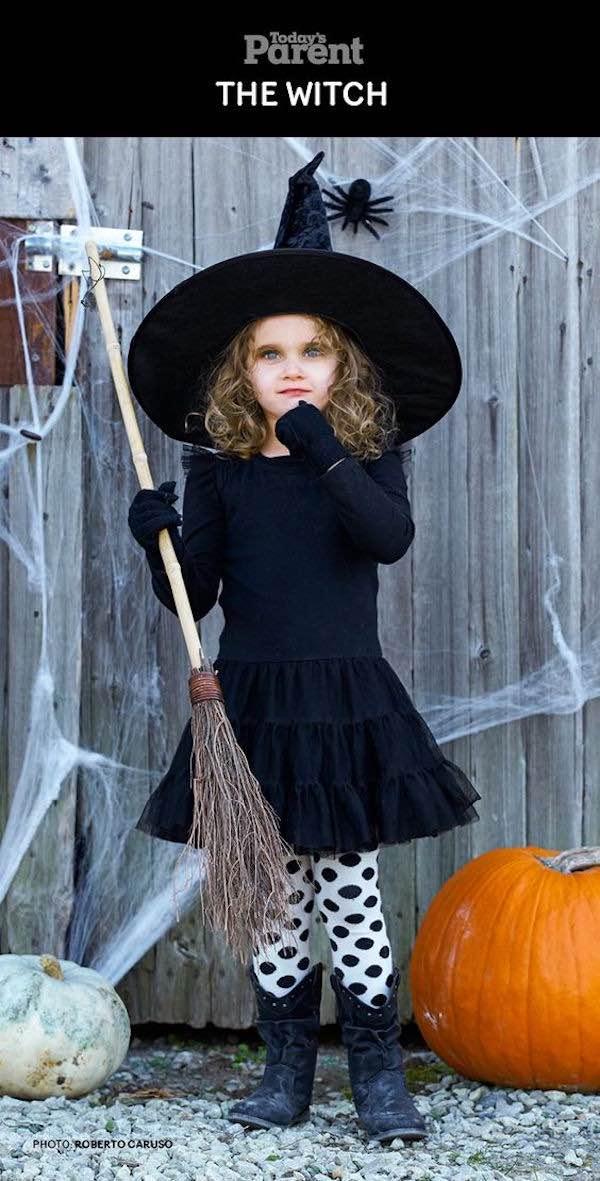 Disfraz de bruja 9 ideas para un disfraz casero pequeocio - Disfraz halloween casero ...
