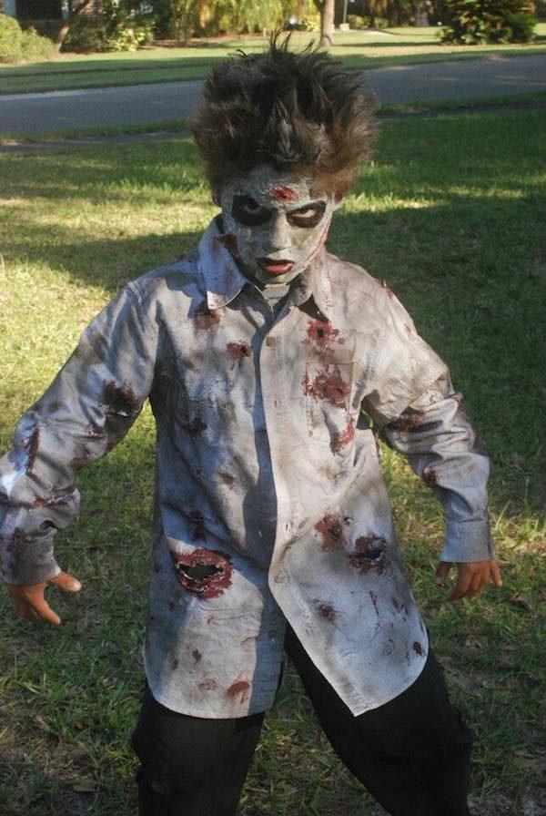 Disfraz de zombie 7 ideas para un disfraz casero pequeocio - Como maquillarse de zombie ...