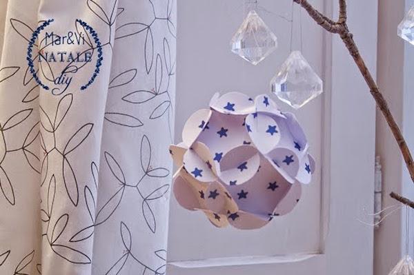 Bolas de Navidad de papel