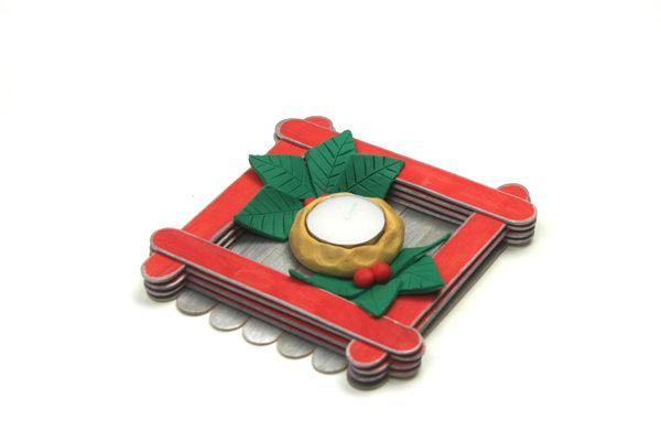 manualidad navidena: como hacer un centro de mesa