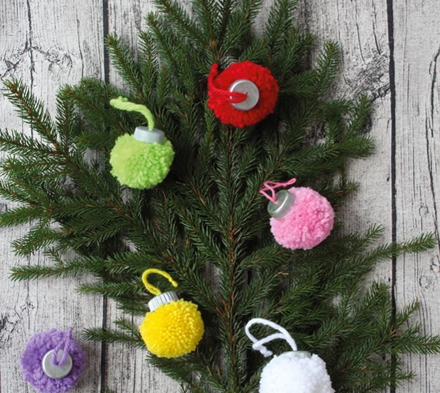 Como hacer bolas de navidad caseras
