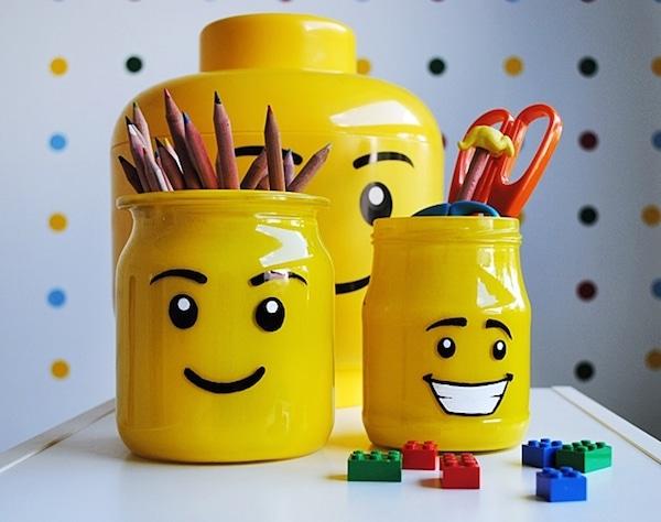 6 manualidades recicladas con frascos de cristal pequeocio - Como hacer un lapicero de madera ...