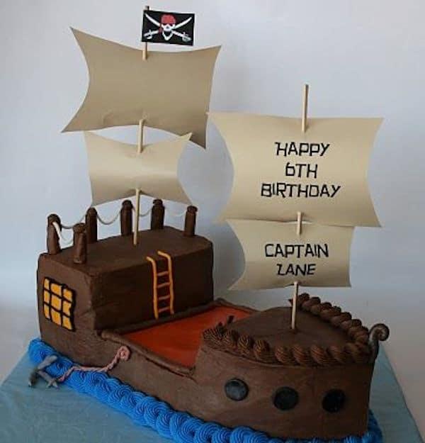 Cómo hacer tartas de cumpleaños ¡de barco pirata! - Pequeocio