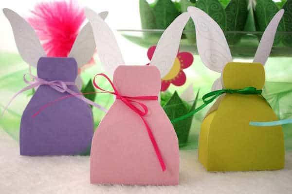 Cajitas para regalo en forma de vestido