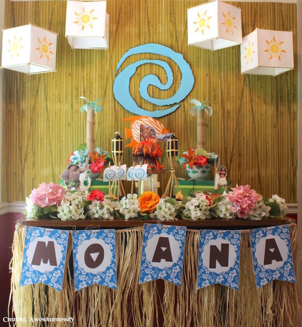 Cumpleaños infantiles de Vaiana