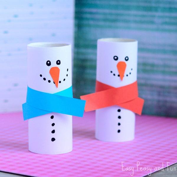 manualidades fciles para nios muecos de nieve - Manualidades Faciles Para Nios