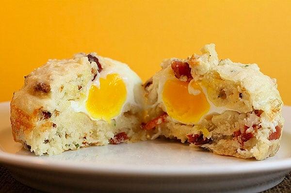 muffins salados de huevo