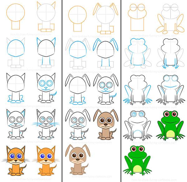 Como Dibujar Animales Faciles Pequeocio Com
