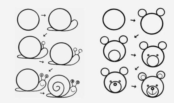 Cómo Dibujar Animales Fáciles Pequeociocom