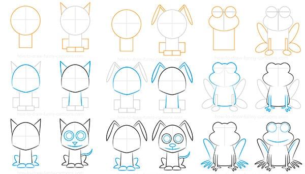 Como Dibujar Animales Faciles Pequeocio