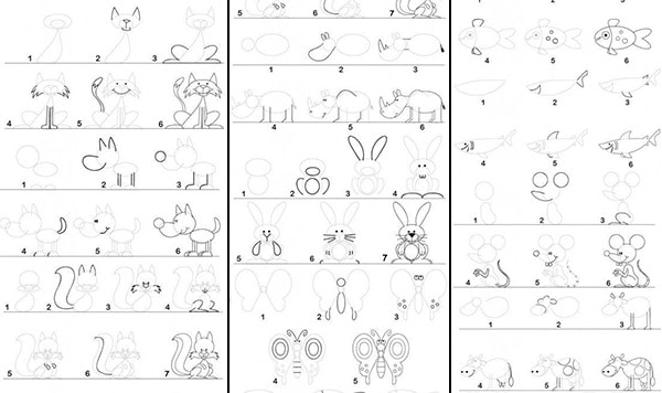 Cmo dibujar animales fciles  Pequeocio
