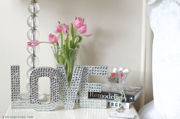 Letras para decorar habitaciones de adolescentes