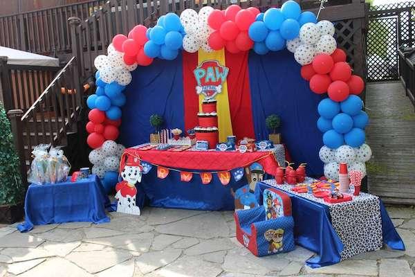 Decoracion fiestas infantiles para nios interesting - Mesa patrulla canina ...
