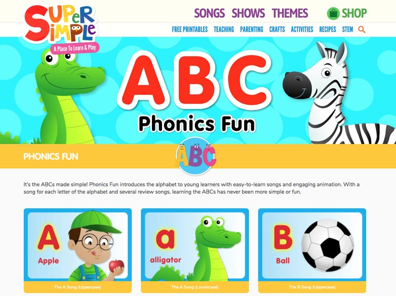 Canciones en ingles para niños Super Simple Songs