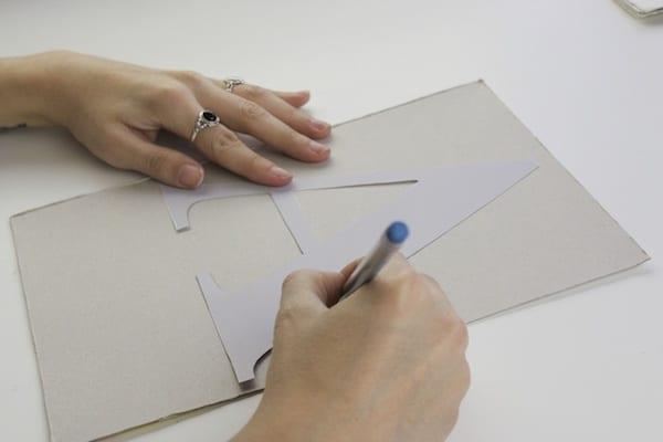 Cómo hacer letras de cartón