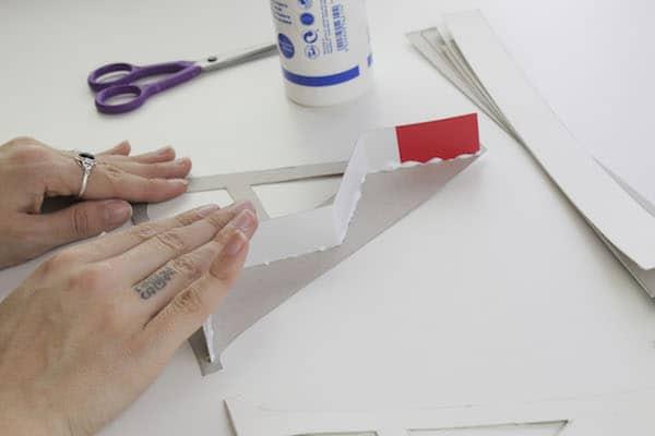 Letras 3D de cartón