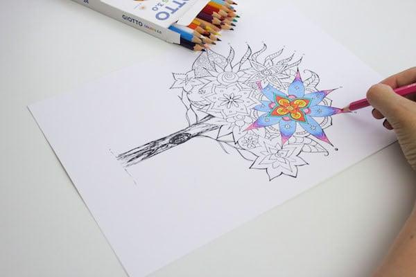 Cómo colorear mandalas paso a paso 2