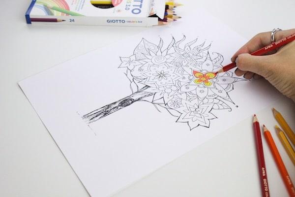 Cómo colorear mandalas paso a paso 1