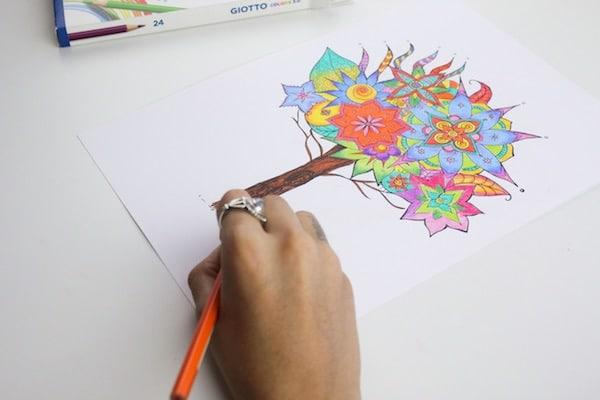 Cómo colorear mandalas paso a paso 4