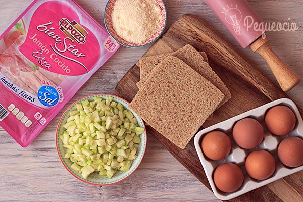muffins salados jamon calabacin