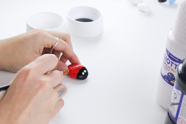 Cómo hacer imanes con piedras pintadas 2