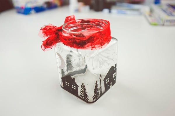Cómo hacer un portavelas navideño 4