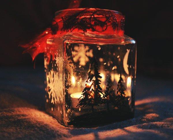 portavelas de Navidad