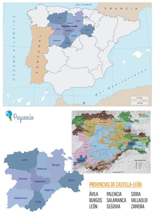 mapa castilla-leon