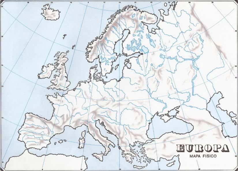 Mapa de ríos de Europa