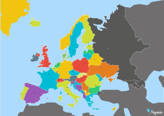 Mapa mudo político de Europa