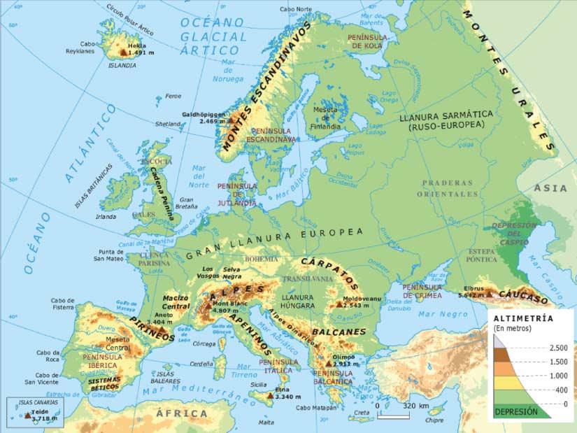 Mapa Mudo Fisico Europa Para Imprimir A4.Mapa De Europa Fisico Y Politico Pequeocio