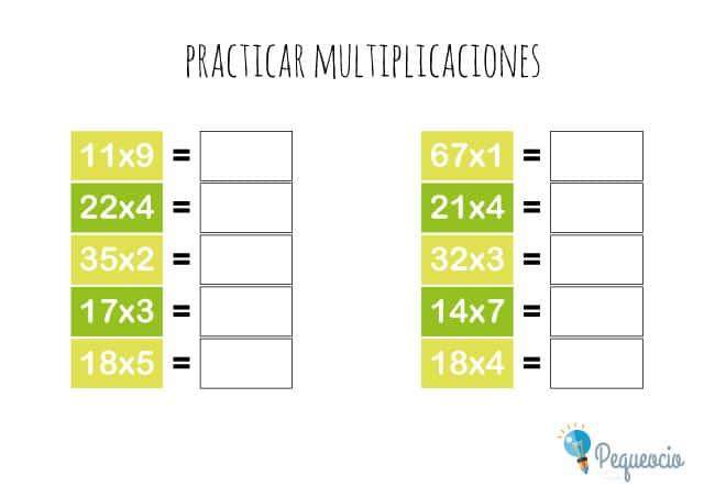 Practicar multiplicaciones