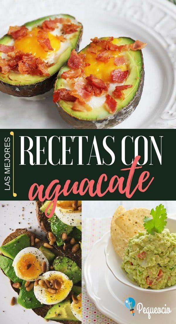 ¿Tenéis un aguacate y solo se os ocurre preparar guacamole? Os traemos las mejores recetas con aguacate, esas que os harán triunfar en cualquier ocasión, fáciles de hacer y simplemente deliciosas…  #aguacate #recetas #guacamole