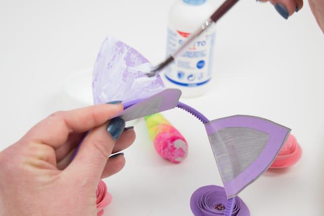 Cómo hacer una diadema de unicornio 8