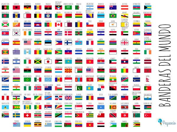 Banderas Del Mundo Para Imprimir Gratis Pequeocio Com