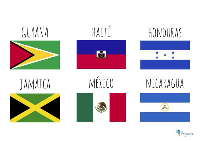escudos y banderas delos paises de centroamerica