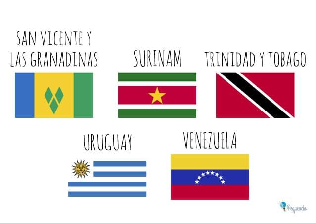 Banderas de los países de América