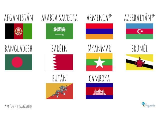 Banderas del mundo para imprimir gratis 1