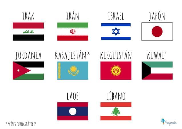 Banderas del mundo por continentes