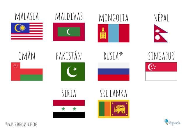 Banderas del mundo para imprimir gratis 2