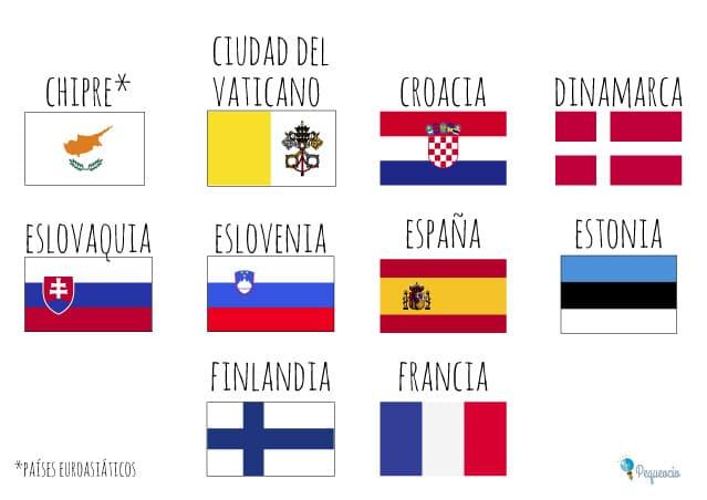 banderas europa para colorear