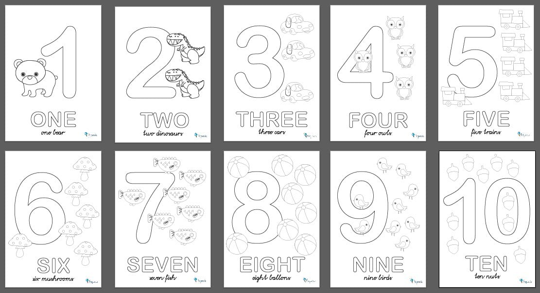 5 manualidades fáciles para aprender los números | Pequeocio.com
