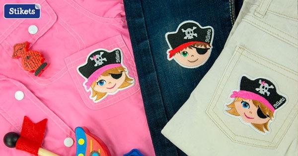 parches bordados ropa niños