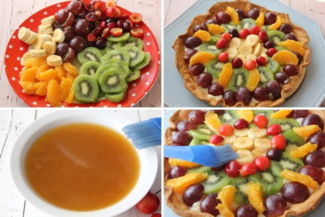 tarta de frutas almibar