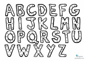 Dibujos de letras para colorear